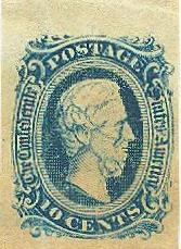 1863 Confederate Postage Stamp- Jefferson Davis (Image1)