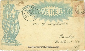 1862 Union Patriotic Cover Mailed From New Orleans, La. (Image1)