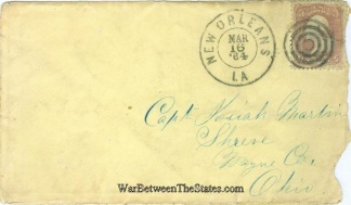 1864 Cover From New Orleans, La. Sent to Ohio Captain (Image1)