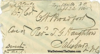 Cover Addressed to Confederate Lieutenant Colonel (Image1)