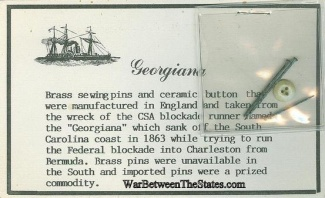 Relics From The Confederate Blockade Runner Georgiana