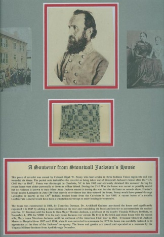 Souvenir From Confederate General Stonewall Jackson's House (Image1)