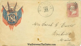 1863 Patriotic Cover Postmarked at New Orleans, La. (Image1)