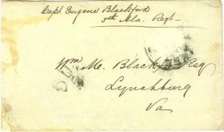 War Date Cover Endorsed & Addressed by Confederate Capt. (Image1)