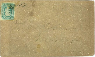 Stamped Confederate Cover Postmarked at Charlotte, N.C. (Image1)