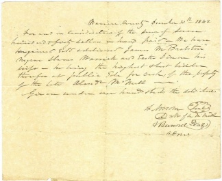 1842 Slave Auction Bill Of Sale