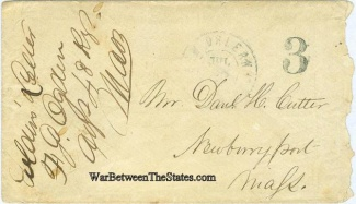 Patriotic Cover Signed by Massachusetts Officer (Image1)