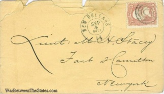 1862 Cover Sent From New Orleans, La.  (Image1)