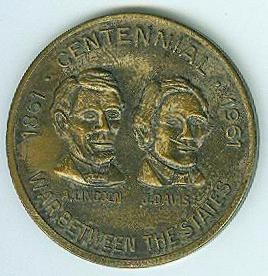 War Between The States Centennial Coin (Image1)