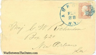 Cover Addressed to Yankee Major in New Orleans, La. (Image1)