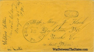 Cover Sent by Major James T. Clancy, 45th Pennsylvania Infantry (Image1)