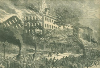 The Destruction Of Barnum's Museum, New York City