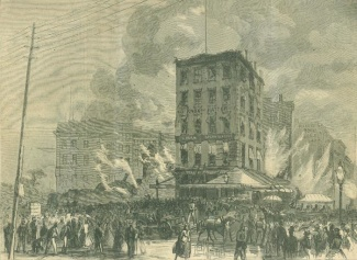 The Ruins Of Barnum's Museum In New York City
