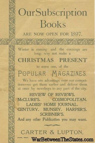 1897 Advertising Broadside For Carter & Lupton Books (Image1)