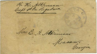 Confederate Cover From Captain, 1st Georgia Regulars (Image1)