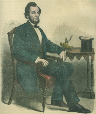 1861 Portrait Of President-elect Abraham Lincoln