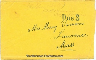 Cover Sent by Adjutant of the 40th Massachusetts Infantry (Image1)