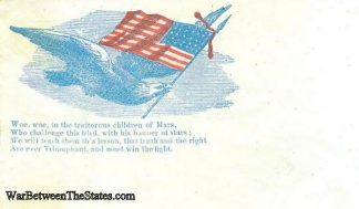 Eagle and American Flag   (Image1)