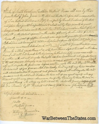 1825 Sale of Land in Pendleton District, South Carolina (Image1)