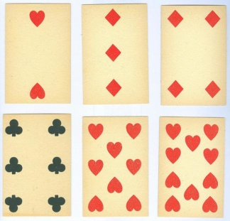 Group Lot of 6 Antique Playing Cards (Image1)