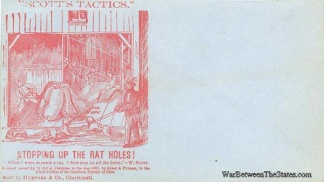 1861 Patriotic Cover, Scott's Tactics, Stopping Up The Rat Holes (Image1)