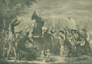 The Reverend George Whitefield Preaching In Moorefields