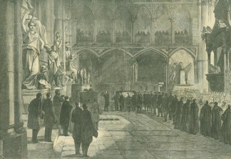 Funeral Of Lord Palmerston At Westminster Abbey