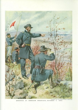 General William T. Sherman at Kenesaw Mountain, Georgia (Image1)