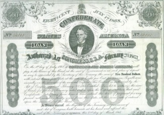 1863 Confederate $500 Bond- C.G. Memminger (Image1)