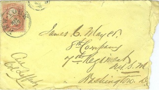 Cover Addressed to Soldier in the 7th N.Y.S.M. (Image1)