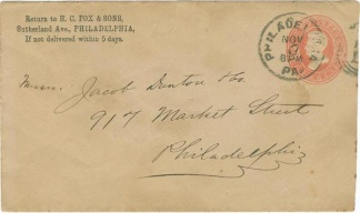 Business Envelope With Philadelphia Postmark