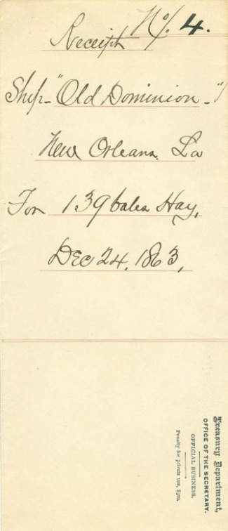 1863 U.S. Treasury Department Envelope (Image1)