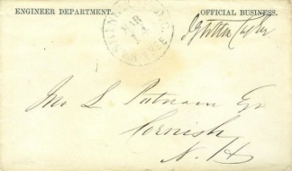 Civil War Engineer Department Envelope (Image1)