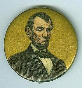 President Abraham Lincoln Celluloid Button (Image1)