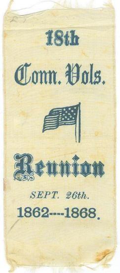 18th Connecticut Volunteers Reunion Ribbon (Image1)