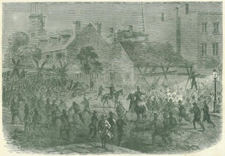 The Invasion of Maryland, Barricading the Streets of Baltimore (Image1)