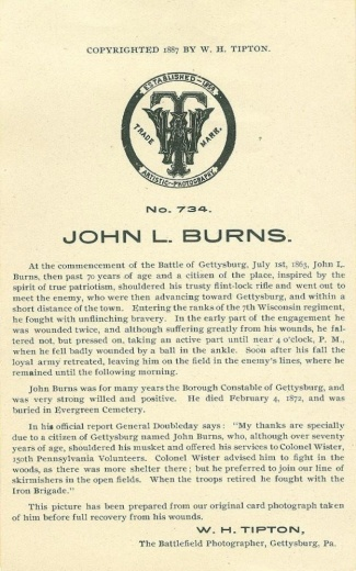 Advertisement, W.H. Tipton, Gettysburg Battlefield Photographer  (Image1)