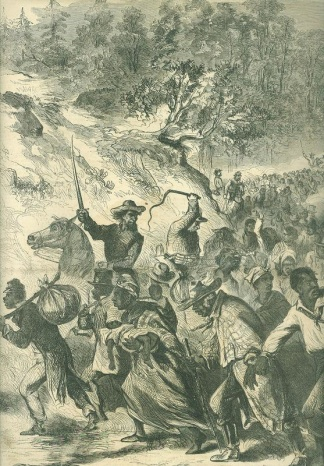 Negroes Being Driven South by the Confederates (Image1)