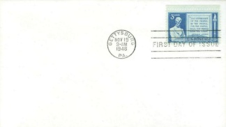 Abraham Lincoln Gettysburg First Day Cover & Stamp (Image1)
