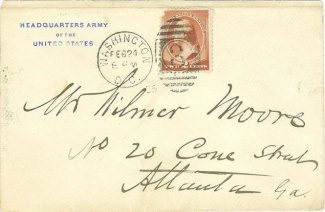 Cover Sent by General Philip H. Sheridan (Image1)