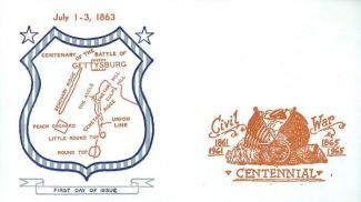 Gettysburg Patriotic Cover, Civil War Centennial Issue (Image1)