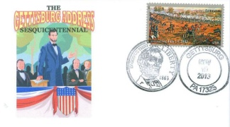 The Gettysburg Address Sesquicentennial Cover (Image1)