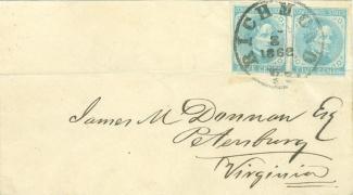 1862 Confederate Cover Addressed to Petersburg, Virginia (Image1)
