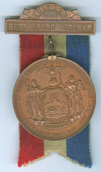 1893 New York Day at Gettysburg Medal (Image1)