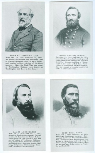 Set Of 10 Prints Of Confederate Generals