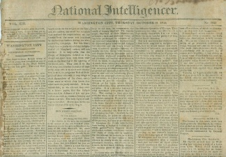 National Intelligencer, Washington City, October 21, 1813 (Image1)