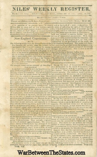 Niles' Weekly Register, Baltimore, February 14, 1815 (Image1)