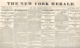 The New York Herald, June 22, 1865 (Image1)
