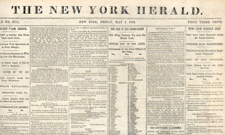 The New York Herald, May 1, 1863 (Image1)