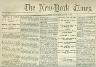 The New York Times, August 5, 1863 (Image1)